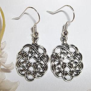 Celtic Knot Earrings Dangle Drop Set Jewelry 2523